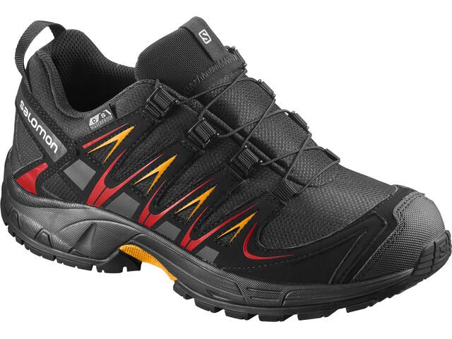 Salomon Junior XA Pro 3D CSWP Shoes Black/Black/Fiery Red